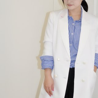 Flat 135 X Taiwan Designer Series Pure White Breathable Comfortable Cloth Blazer