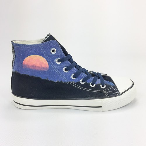 New Designer Series -850Collections- Canvas Shoes (Black Shoes Navy Blue) -AH14