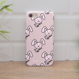 iphone case pink rabbit patten for iphone 6, 7, 8, iphone xs , iphone xs max