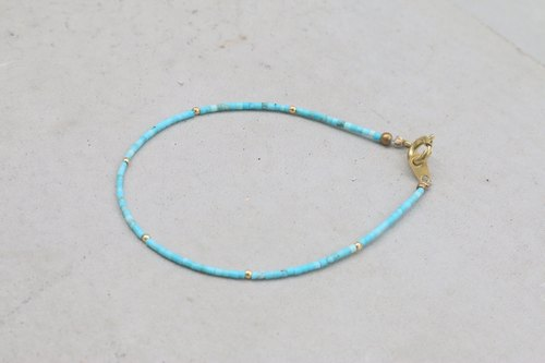 Turkish stone brass bracelet (1052 re-grow)