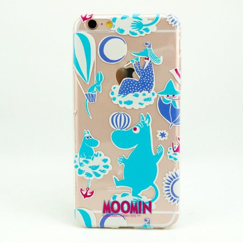 "Air cushion protective shell -Moomin Moomin authorization: [Moomin amusement park (Aqua Blue)] ""iPhone / Samsung / HTC / ASUS / Sony / LG / millet / OPPO"""