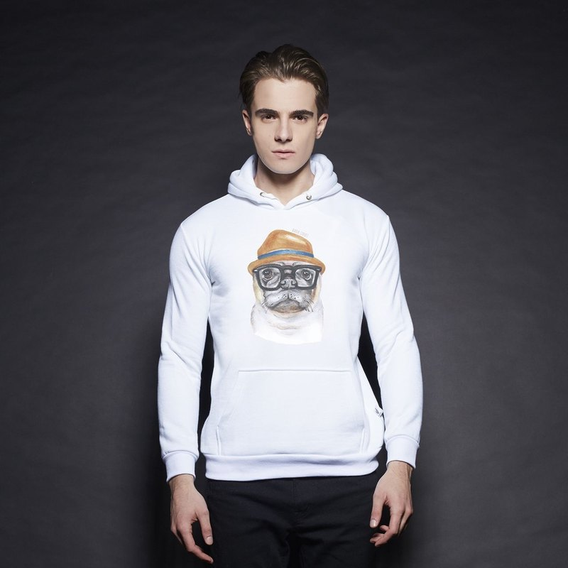 British Fashion Brand [Baker Street] Bulldog Printed Hoodie