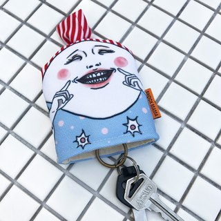 Keep smiling / key pouch
