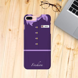 Hong kong Airlines Air Hostess Fight Attendant Purple scarf iPhone Samsung Case