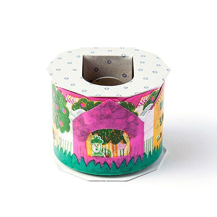 Iroha - Wide Masking Tape - Happy Home