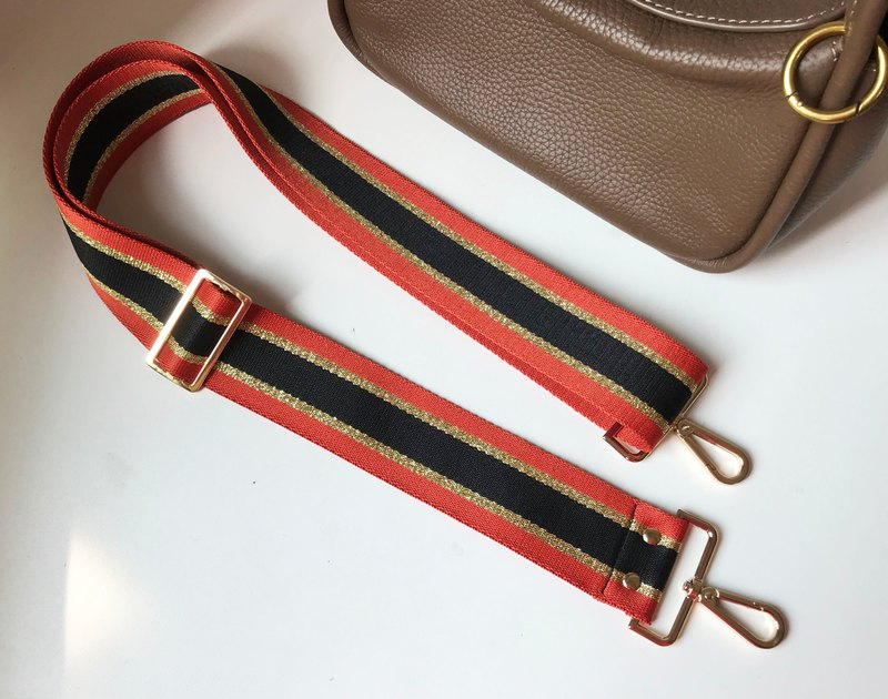 2吋Handmade wide straps, cotton woven straps, backpack straps can be adjusted and replaced