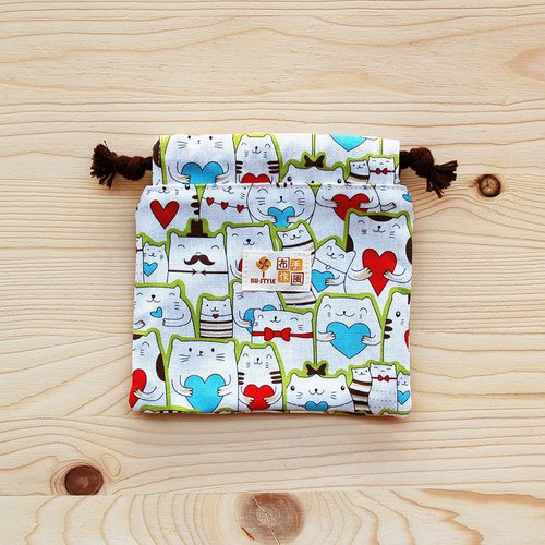 Love Cat Drawstring Pocket (Small)