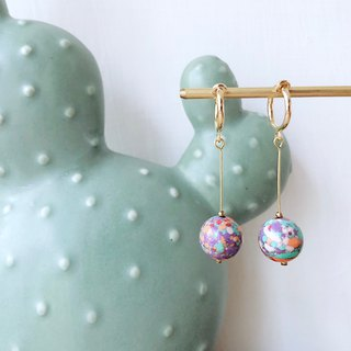 [endorphin] Candy Stone Beaded Drop Earrings - Salt Beach