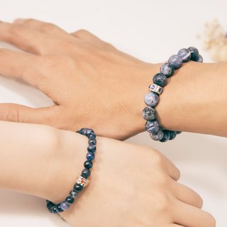 Sodalite Lovers Bracelet Precious Stones 6mm 10mm 1 Pair Set Free Gift Wrap