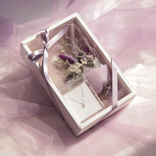 Sweet pale purple bouquet sterling silver jewelry gift box (limited)