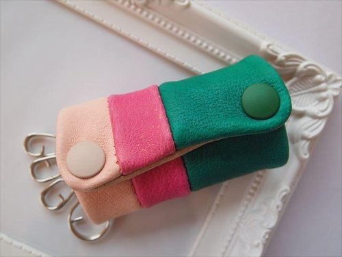 Luxury pig leather soft key case [hand-dyed leather] 1539008
