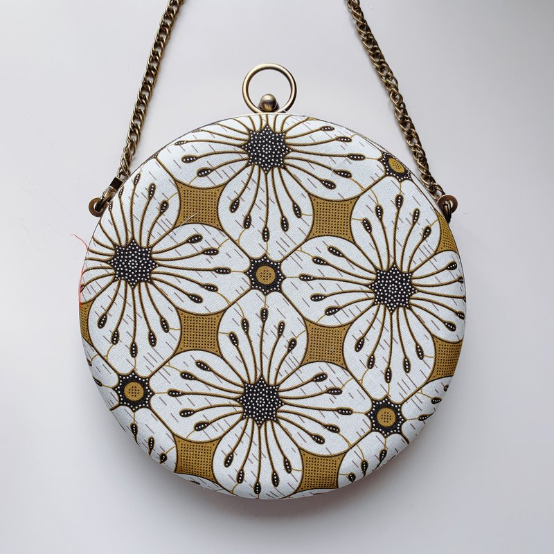 Honey flower small round bag - can be taken by hand / cross-body