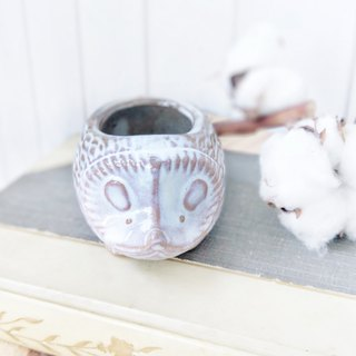 [Good Day Fetish] Japanese Handmade Hedgehog Flower. Vase. Decoration - 3 sizes