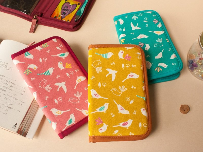 [花布恋Fabric Series] slideable mobile phone zipper bag (small)