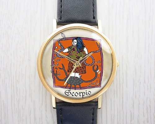 Scorpio - Fashion Watches / Leather Strap / Men's & Women's Wearables [Best Holiday Gifts]