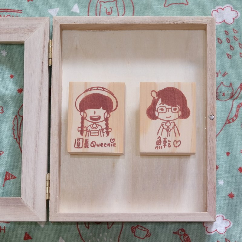 a Gift / Custom Portrait Handmade Stamps (Single)
