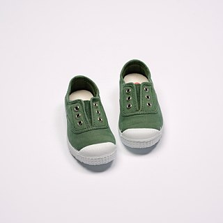 Spanish national canvas shoes CIENTA children's shoes size grass green fragrance shoes 70997 63