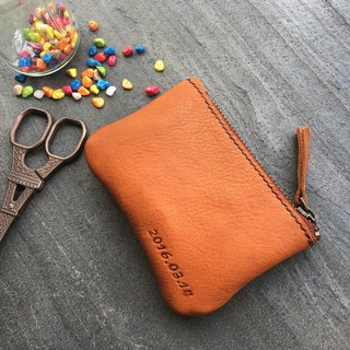 Xuan window leather art - handmade leather - purse hand-made tanned chrome enamel customized custom retro style