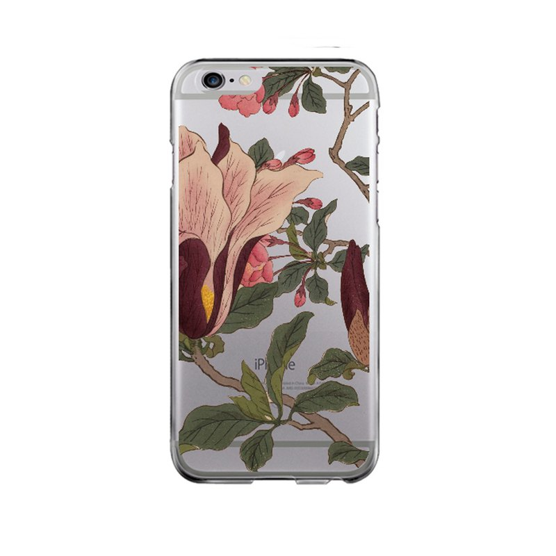 Hard plastic clear iPhone case Samsung Galaxy case Phone case floral 41