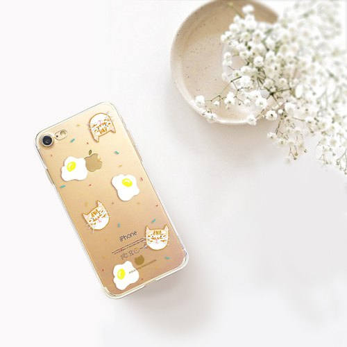 Cat clear phone case iPhone x Case Samsung note8 case HTC U11 case sony xz case