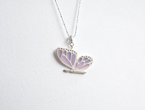 Butterfly Watercolor Butterfly Necklace