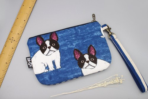 Peace clutch - dog baby, passport package, small storage bag