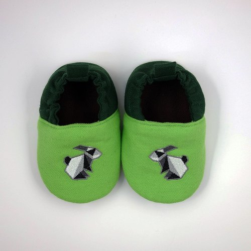(Rabbit Mint Baby) origami rabbit embroidered cotton baby toddler shoes - (C0002)