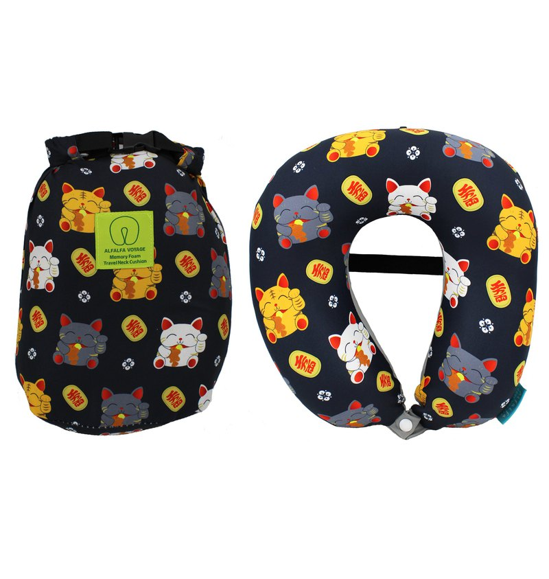 Japan Lucky Cat - Ultimate Cooling Fabric Memory Foam Neck Cushion