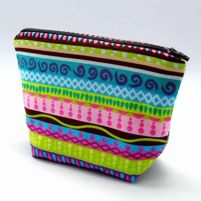 Large flat bottom zipper pouch /cosmetic bag (padded) (ZL-40)