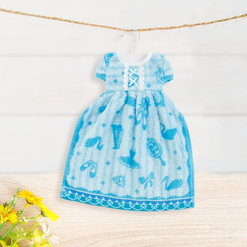 Blue Princess Dress Hanging Towel