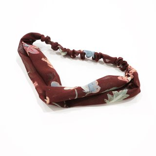 JOJA│ no time to play Wen Qing take the name: Japanese handmade old cloth elastic headband