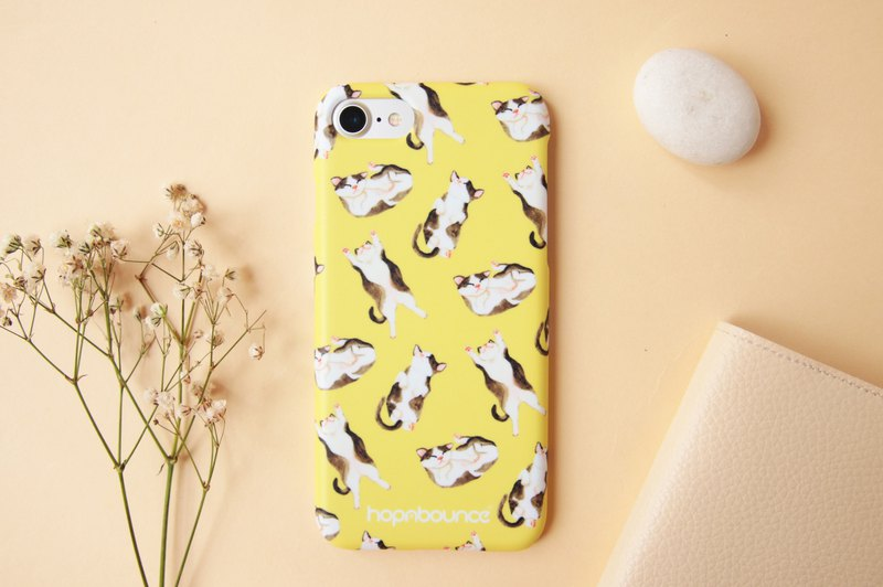 Syrup Cat Phone Case in Yellow iPhone 6 7 8 plus x xs xr x max Samsung