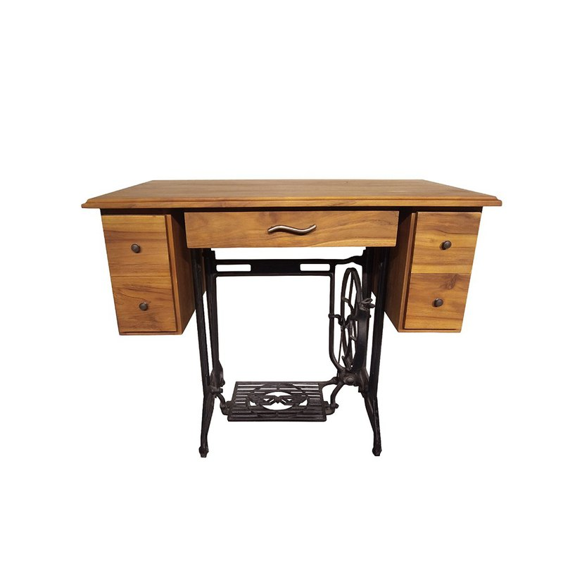 JatiLiving | Industrial style multi-drawer tailor table