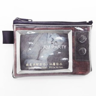 | I AM PARTY | Handmade Oil Canvas Leather Coin Purse - Sexy Fox [buy to send brand badge or leisure card stickers x1]