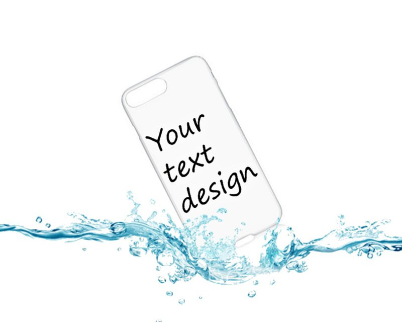 [Customized] Mobile Shell / Your text, name design / word / transparent shell