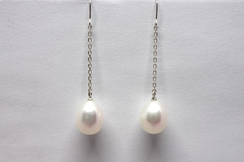 Budgie's egg pearls earrings SV925【Pio by Parakee】淡水珍珠耳環