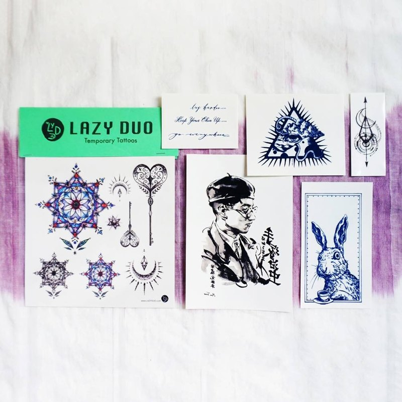 Goody Bag - LAZY DUO Temporary Tattoo Stickers · Set A Ink & Art ·