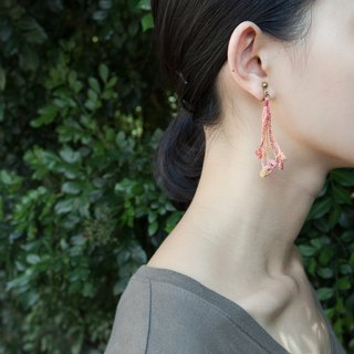flame crochet earring E.