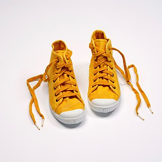 Spanish national canvas shoes CIENTA children's shoes size washed old mustard yellow fragrant shoes 61777 64
