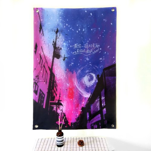 Wall decoration cloth city stars