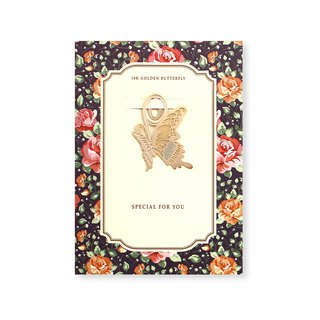 bookfriends-18K gold natural style bookmark - butterfly, BZC24166