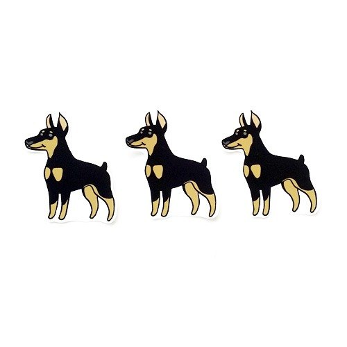 1212 design fun funny stickers waterproof stickers everywhere - Doberman