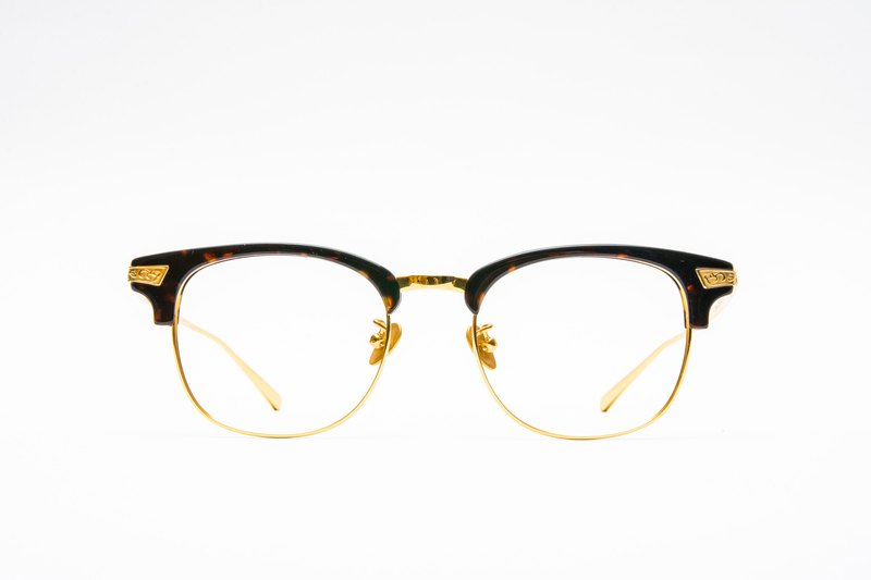 Gentleman Eyebrow Frame│Designed in Japan- 【Pure Titanium Alloy】-玳瑁 金