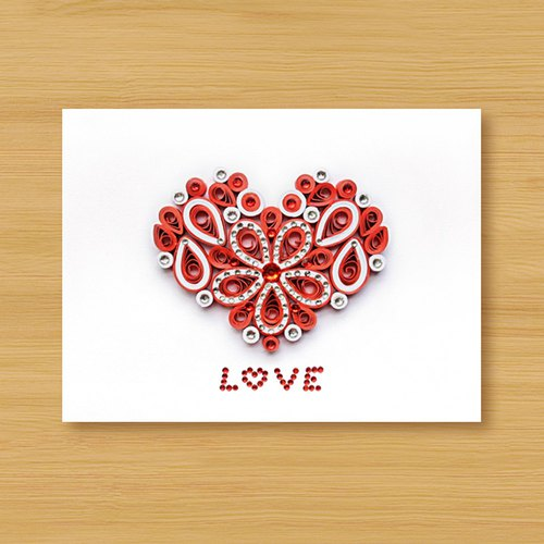 Hand-rolled paper card three-dimensional volume _ cherish LOVE - love red ..... Valentine's card, mother card, wedding greeting card, multi-purpose card