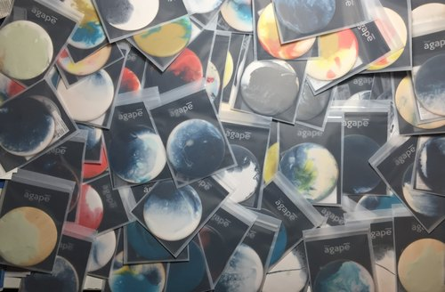 【 agape resin art・Planet・coaster】10cm x 2