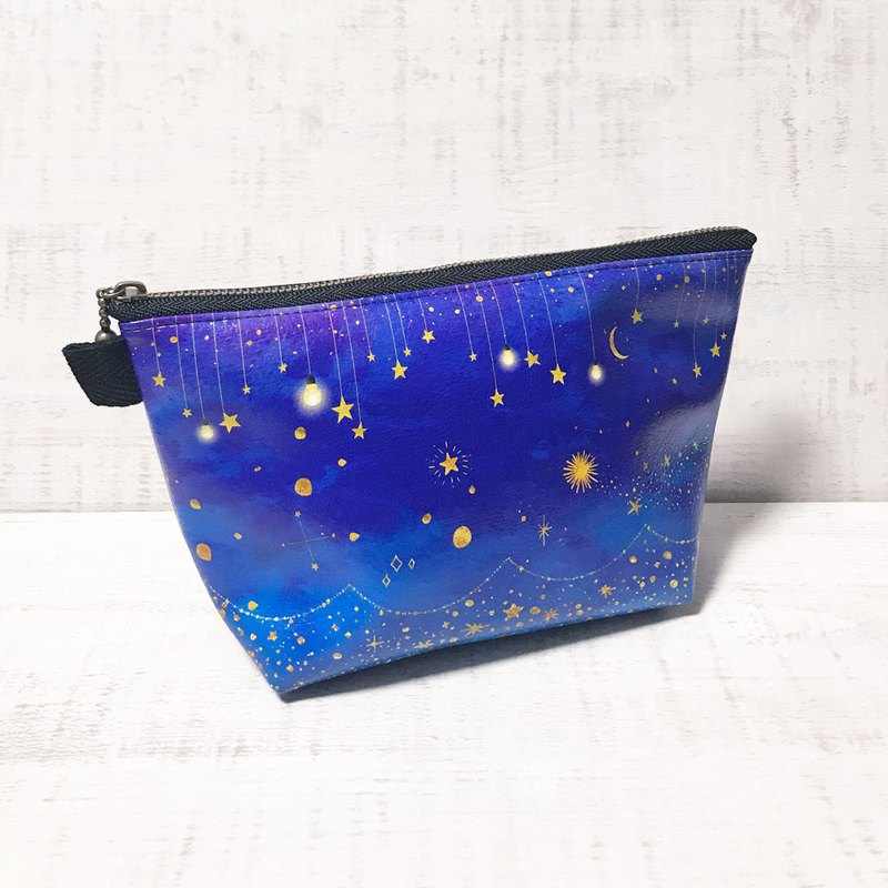 Pouch The glow of stars / Cosmetic pouch / galaxy / Starry sky / planetarium