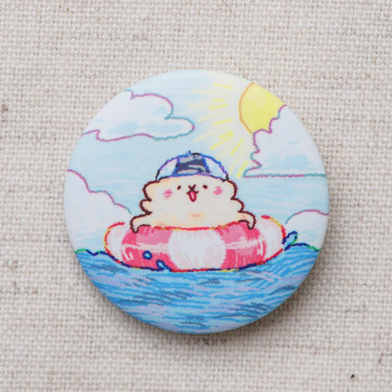Sheep horse floating swimming ring matte badge badge