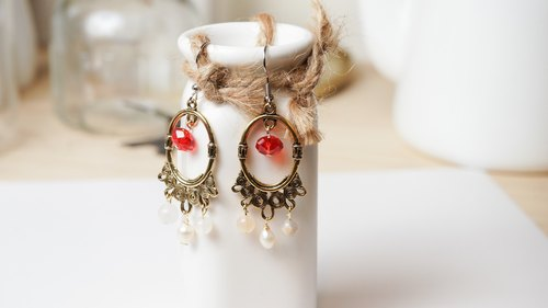 Fenghua [X] hand made natural stone earrings
