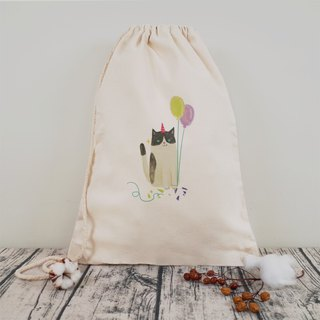 [party animal] naughty cat canvas beam back pocket