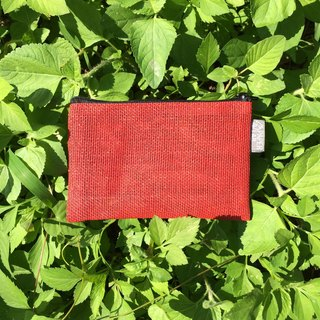 Paper Cord Pouch - Small (Red)